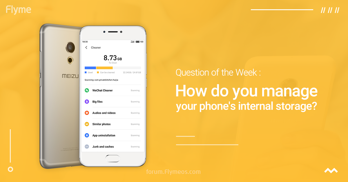 How do you manage your phone's internal storage?