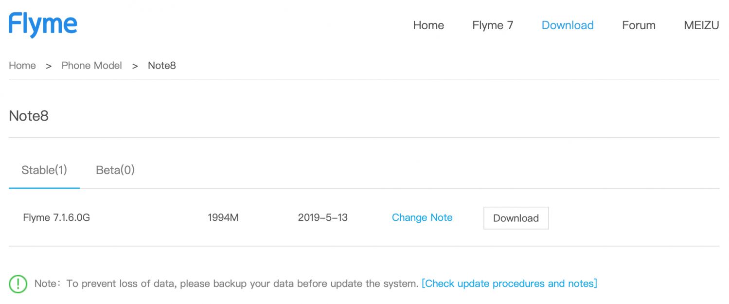 Meizu Note 8 - Flyme 7.1.6.0 G Firmware